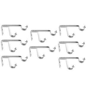 Nixnine Stainless Steel Curtain Support for Double Rod, DOU_A-956_8PS (Pack of 8)