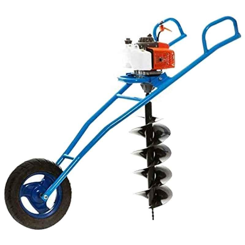 Kanak 63CC Trolley Type Earth Auger with Single Wheel & 8+12 inch Drill