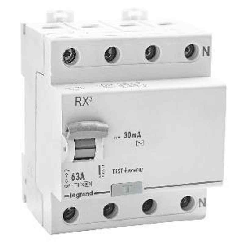 Legrand RX3 63A 4 Pole 30mA RCCB