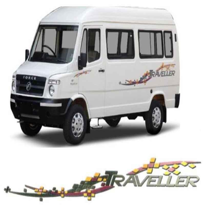 Galio Grey & Black Graphics Car Sticker Set for Force Traveller, GL-168G