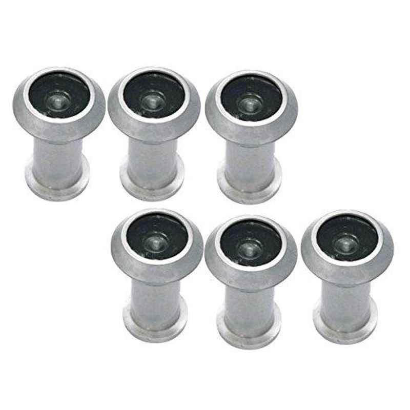 Smart Shophar 2 inch Zinc Alloy Silver Vista Light Weight Eye View, SHA20EV-VIST-LTSL02-P6 (Pack of 6)