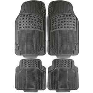 Love4ride 4 Pcs Black Rubber Car Floor Mat Set for Hyundai Verna Transform