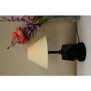 Tucasa Metal Table Lamp with LED in Base with Off White Polycotton Shade, P9-B-1