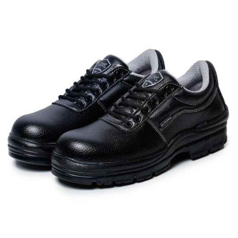 Liberty Gliders ROUGFTR-CT Composite Toe Synthetic Leather Black Safety Shoes, Size: 6