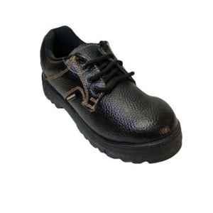 Galista Lion Leather Steel Toe Black Safety Shoe, Size: 10