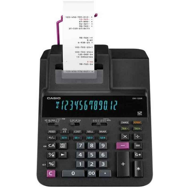 Casio DR-120R-BK 12 Digits Printing Calculator
