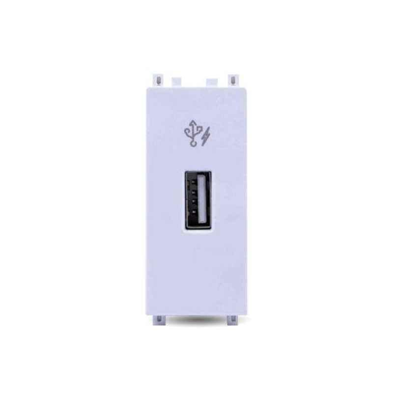 Schneider Zencelo 2.1A 1 Module White USB Charger, IN8431USB_WE