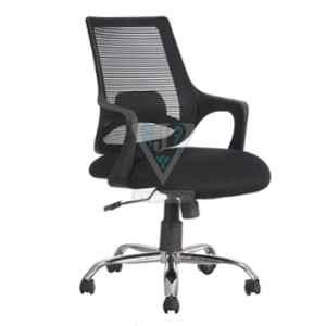 VJ Interior 18x18 inch Black Mid Back Mesh Office Chair, VJ-852