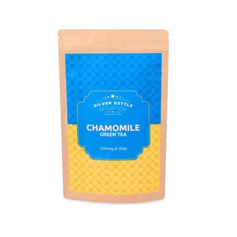 Silver Kettle Kashmiri Kahwa 50g 100% Natural Saffron Rose & Almond Aromatic Green Tea (Pack of 2)