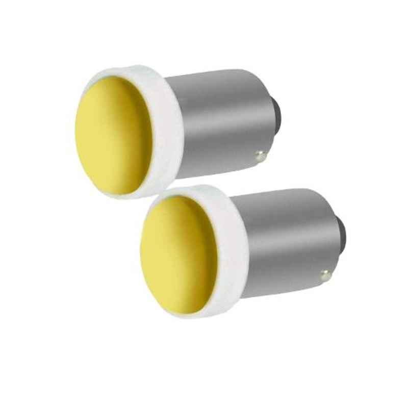 AllExtreme EXBA9SY 2 Pcs 5W 5 SMD Yellow BA9S LED Parking Light Set