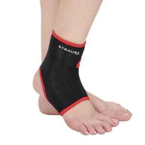 Strauss Medium Black & Red Ankle Support, ST-1275