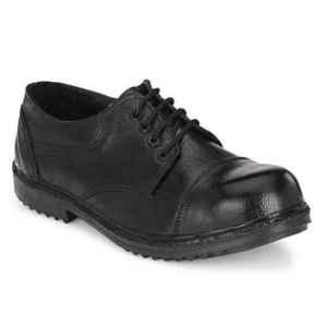 ArmaDuro AD1013 Leather Steel Toe Black Safety Shoes, Size: 10
