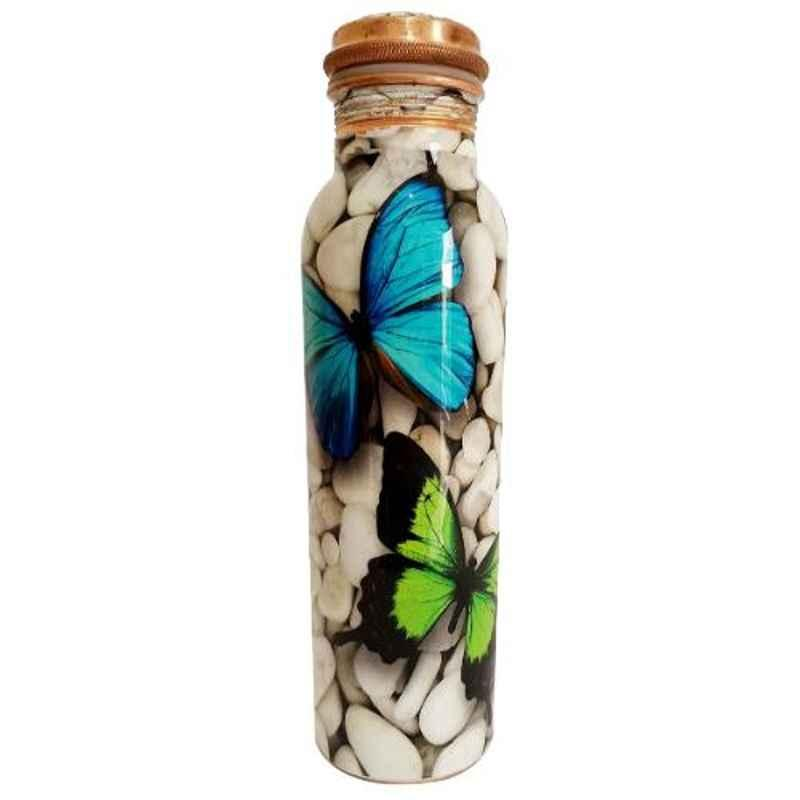 Healthchoice 750ml Copper Butterfly Printed Water Bottle