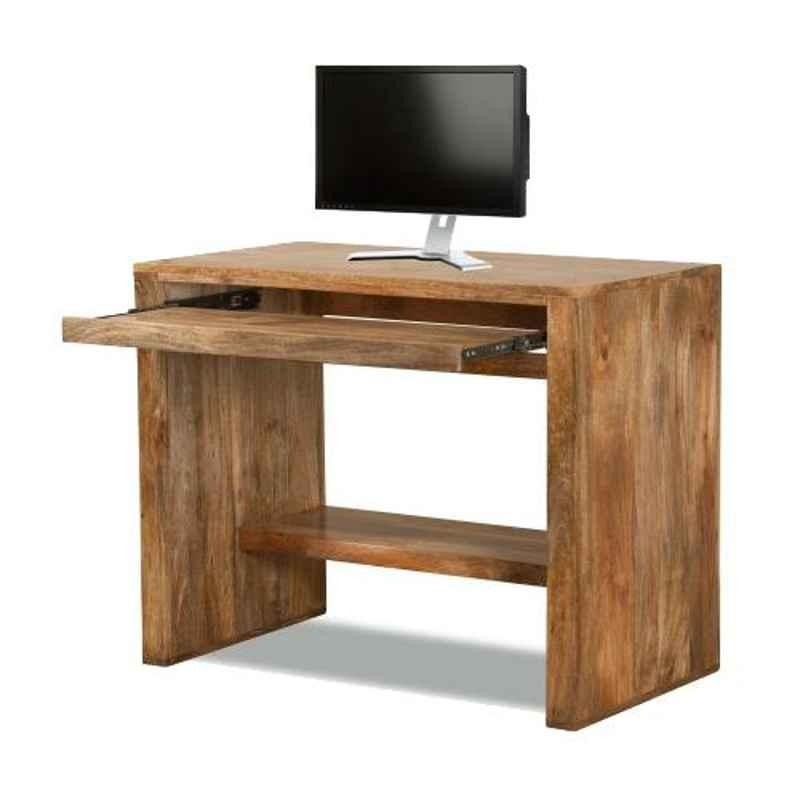The Attic 80x50x78cm Mango Wood Natural Holden Computer Table, KL-1166