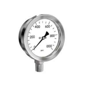 SFI BSP & NPT Stainless Steel Case & Brass Part Vaccum Bottom Pneumatic Pressure Guage, Dial Size: 4 inch, Thread Size: 3/8 inch