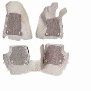 Komfort 3 Pieces 7D Beige Foot Mat Set for Hyundai i20 Elite