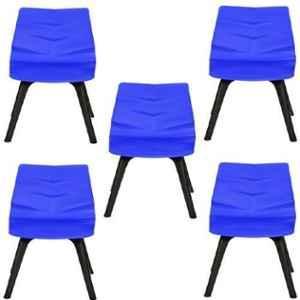 Regent Diamond Shell Plastic Black & Blue Chair (Pack of 5)