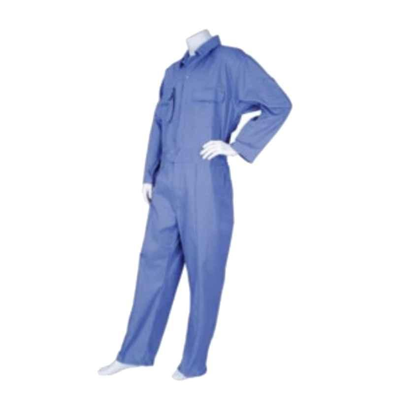 Techtion Comfy Plus Multipro Royal Blue 210 GSM Twill Weave Cotton Coverall Suit, Size: M