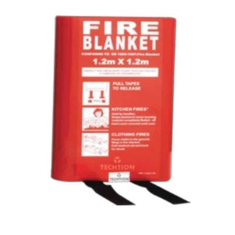 Techtion Fire Blanket-C 1.2x1.2m 0.43mm 100% E-Glass White Silicon Coating Fire blanket