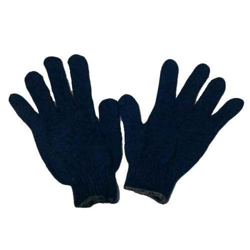 SRTL 60 g Blue Cotton Knitted Hand Gloves (Pack of 50)