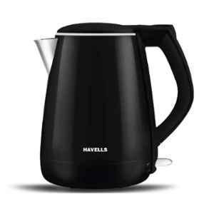 Havells Aqua Plus 1.2L 1500W Black Electric Kettle, GHBKTATK150