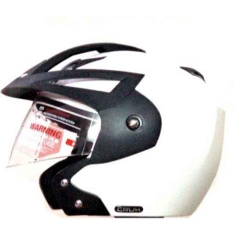 Vega Crux Of White Open Face Motorbike Helmet, Size (M, 570 mm)