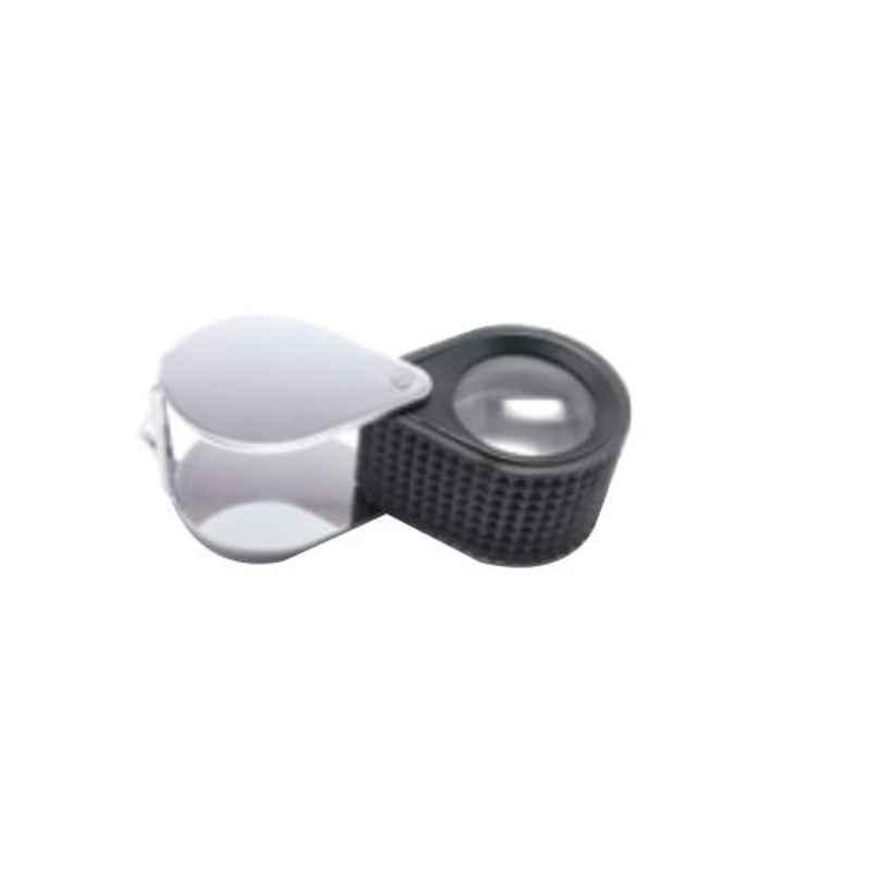 Gold Smith 10x Triplet Type Chrome & Rubber Crip Eye Loupe, TE-310