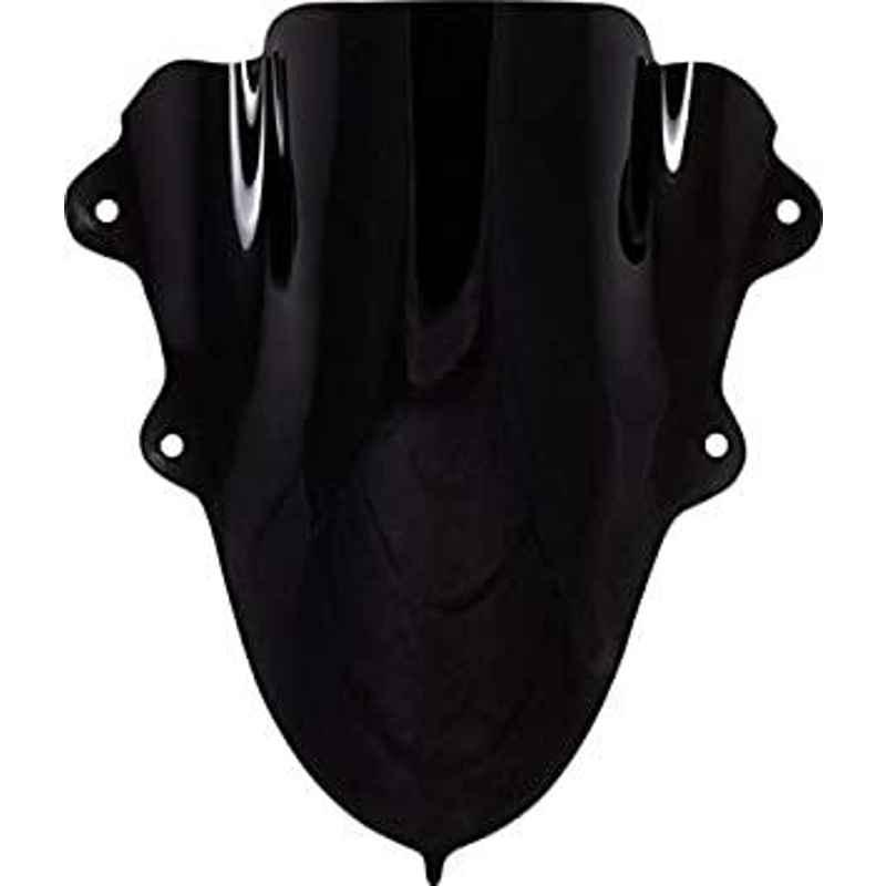 AOW Double Bolt Bubble Visor for Yamaha R15 V3 (Black) C-7