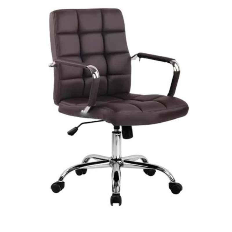 Modern India Leatherate Black High Back Office Chair, MI251