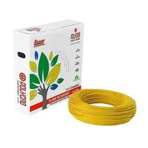 Polycab 1 Sqmm 90m Yellow Single Core FRLF Multistrand PVC Insulated Unsheathed Industrial Cable