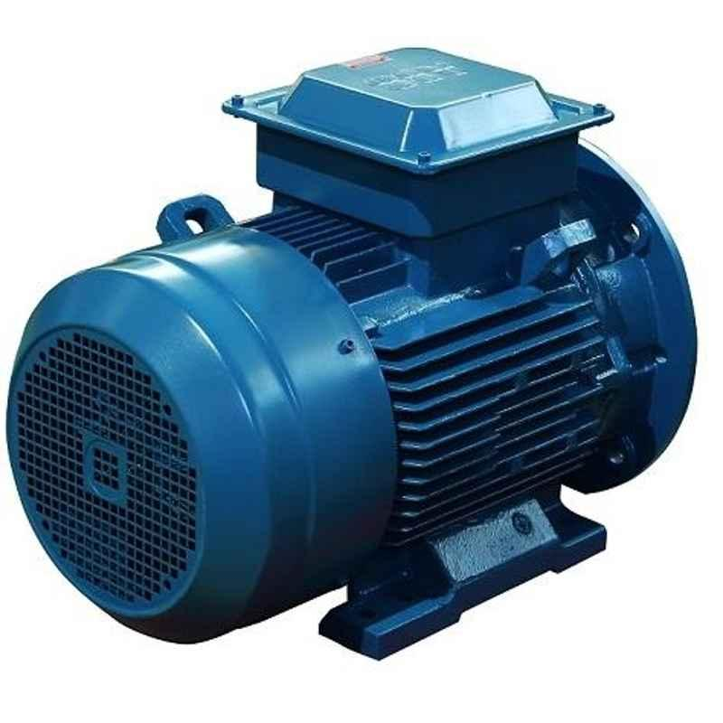 ABB M2BAX90SB4 IE3 3 Phase 1.1kW 1.5HP 415V 4 Pole Foot Cum Flange Mounted Cast Iron Induction Motor, 3GBA092120-HSDIN