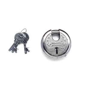 Smart Shophar 65mm Steel Silver Zip Action Medium Disc Shutter Lock, SLK80SL-ZIPA-MSL65-P1