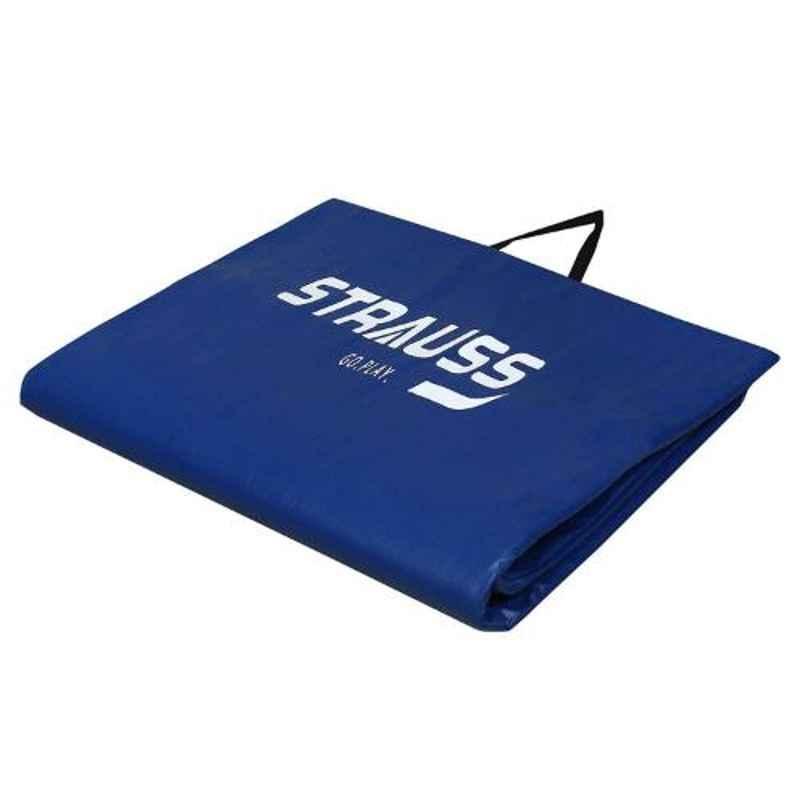 Strauss 68x24 inch 10mm Blue Foldable Yoga Mat, ST-1616