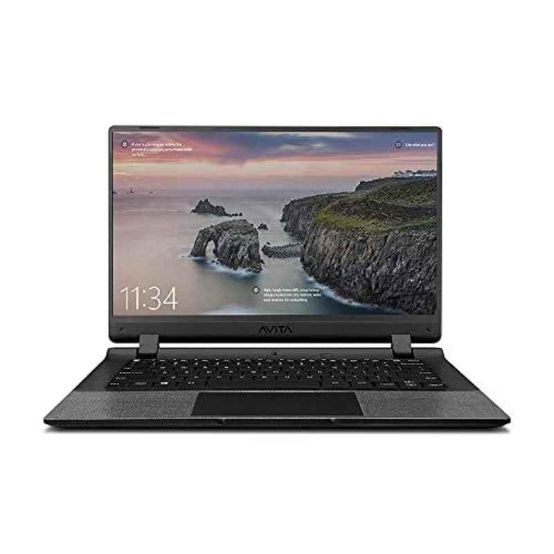 AVITA Essential Intel Celeron N4000/4GB DDR4 RAM/256GB SSD/Windows 10 & 14 inch Display Concrete Grey Laptop with 2 Years Warranty, NE14A2INC443-CR