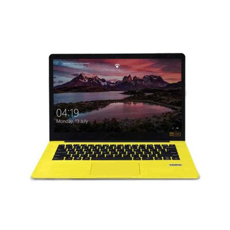 AVITA PURA AMD Ryzen 3 3200U/8GB DDR4/256GB HDD & 14 inch Display Shiny Yellow Laptop with 3 in 1 Grey Sleeve, NS14A6INU541-SHGYB