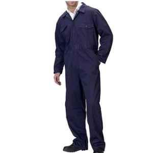 Siddhivinayak Navy Blue Cotton Full Sleeve Boiler Suit, Size: XL