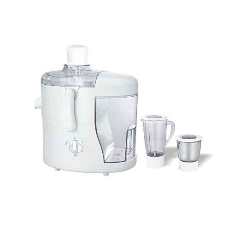 Morsel Boss-001 550W White & Transparent Juicer Mixer Grinder with 2 Jars