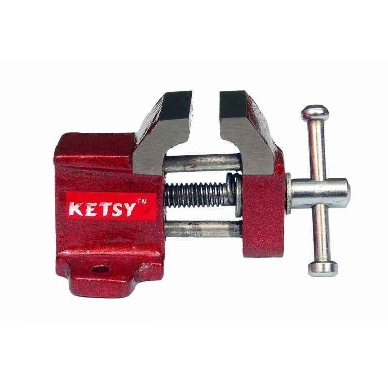 Ketsy 843 Red Iron Cast Baby Vice without Clamp, Size: 25 mm