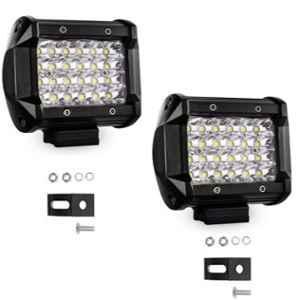JBRIDERZ 2 Pcs 18W 24 LED White Bar Spot LED Fog Light Beam Set with Mounting Bracket