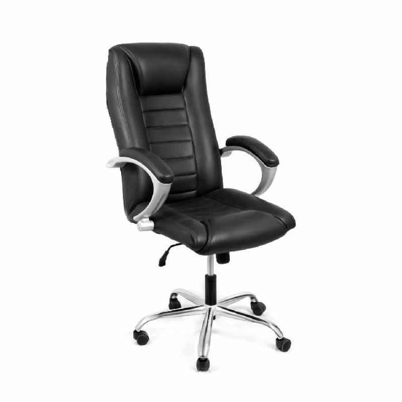 High Living Snug Black Leatherette High Back Office Chair