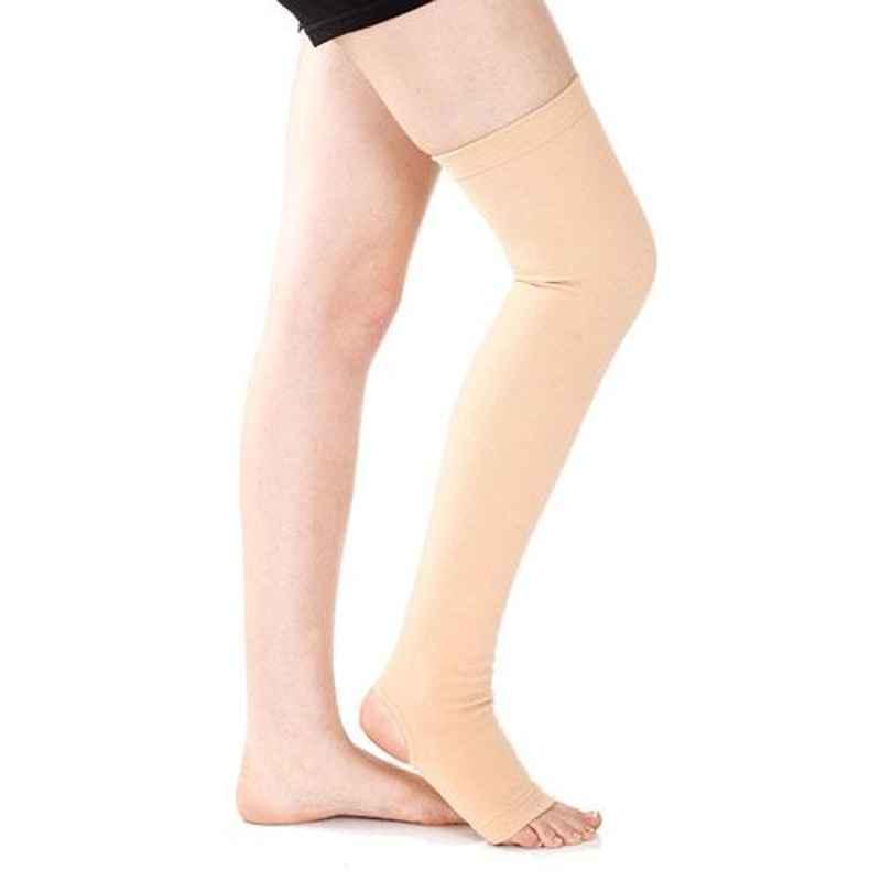 Samson AK-0704 Beige Above Knee Varicose Vein Stocking, Size: S