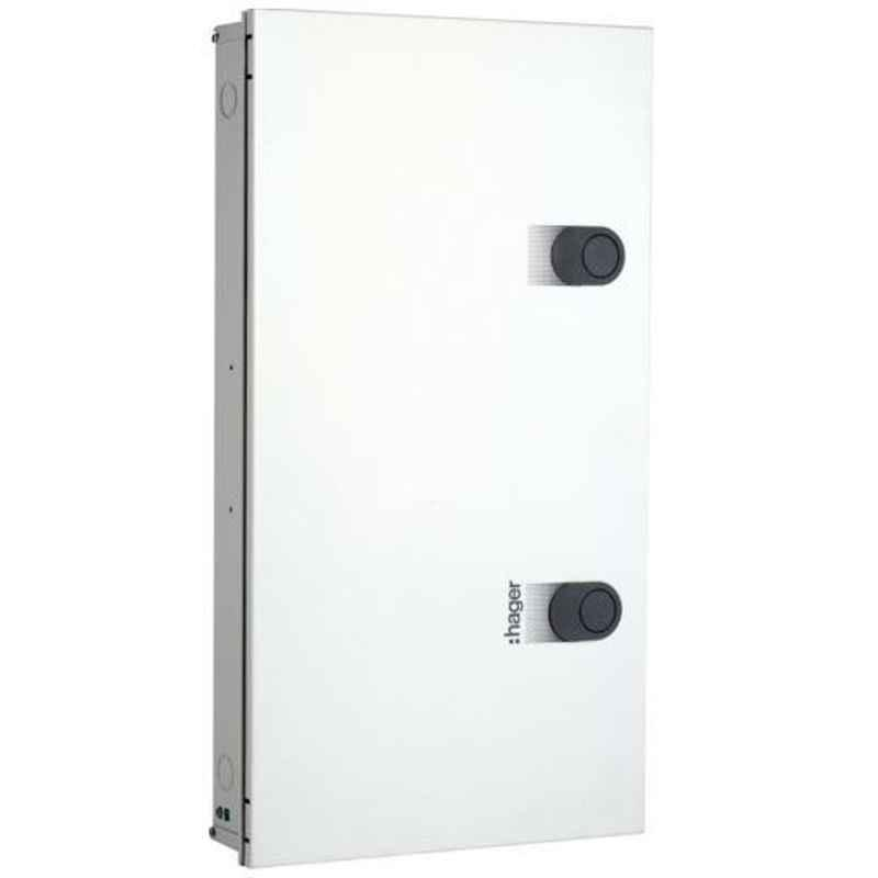 Hager Novello+ 16+2 Ways 8+6+48 Modules Double Door TPN Tier PPI Distribution Board, VYP16DH