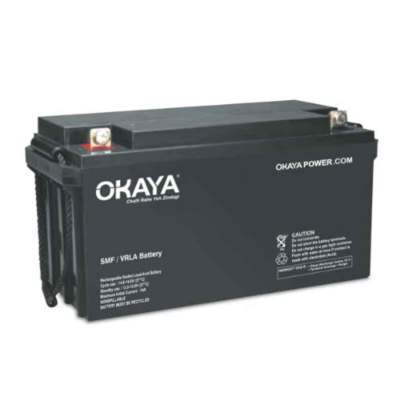 Okaya 12V 26Ah Rechargeable SMF or VRLA Battery, OB-26-12