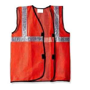 Saraf SA-601 Polyester Orange Safety Jacket with 2 inch PVC Reflective Tape