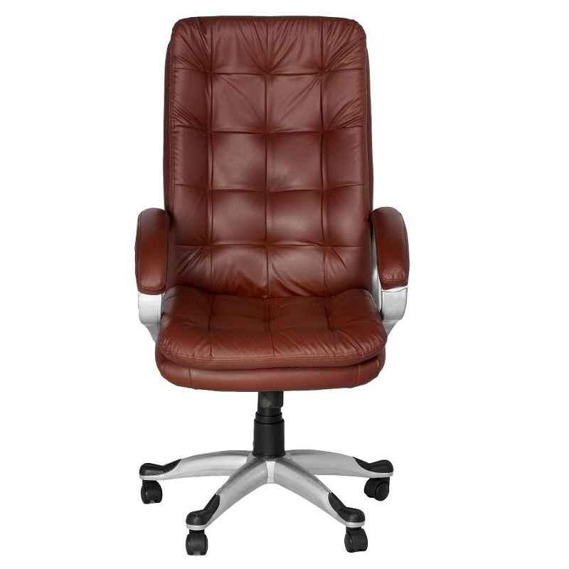 High Living Janus Leatherette High Back Brown Office Chair