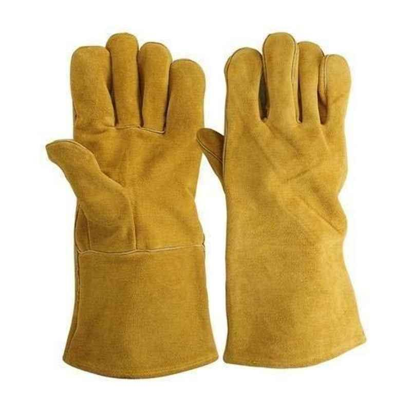 Fire Eater Winter-Y1 14 inch Yellow Leather Welding Hand Gloves