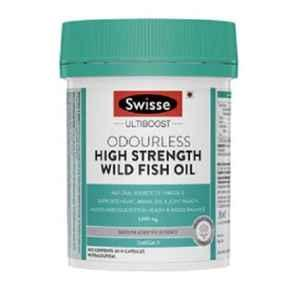 Swisse Ultiboost 60 Pcs Odourless High Strength Wild Fish Oil Tablets with 1500mg Omega 3, HHMCH9535800601