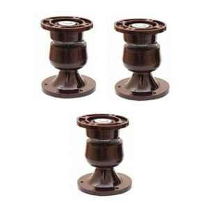 Nixnine Plastic Brown Magnetic Door Stopper, NO-5_BRN_3PS_A (Pack of 3)