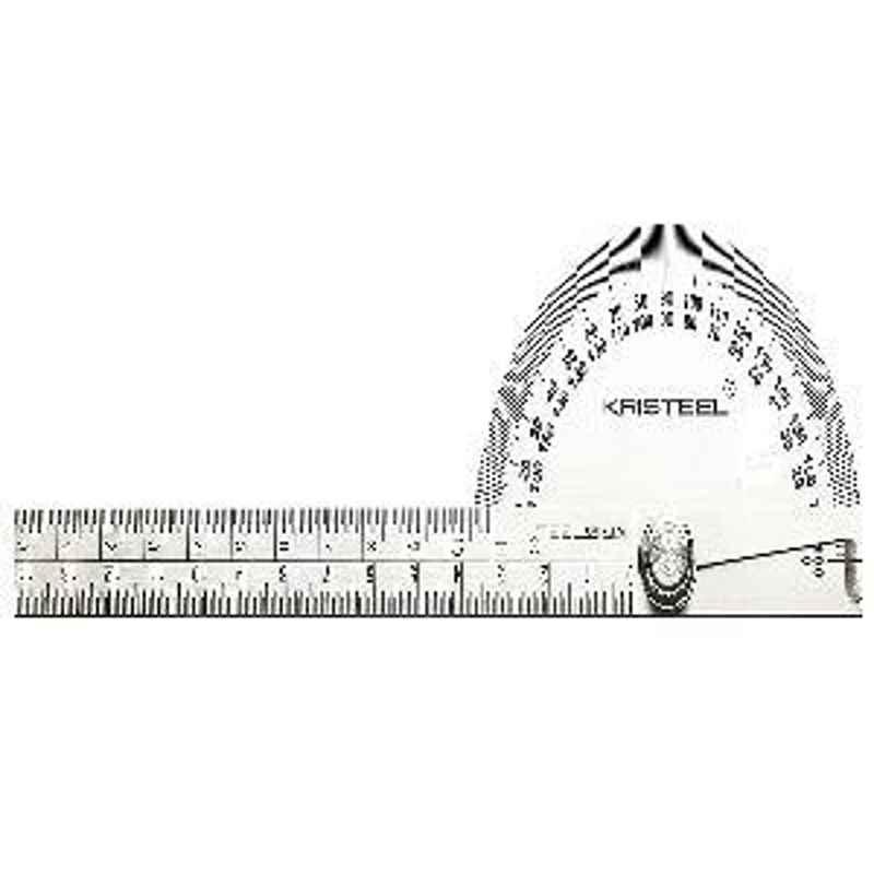Kristeel Shinwa Degree Protractor D Head with 150mm Graduated Arm Polish Finish 1501-GA