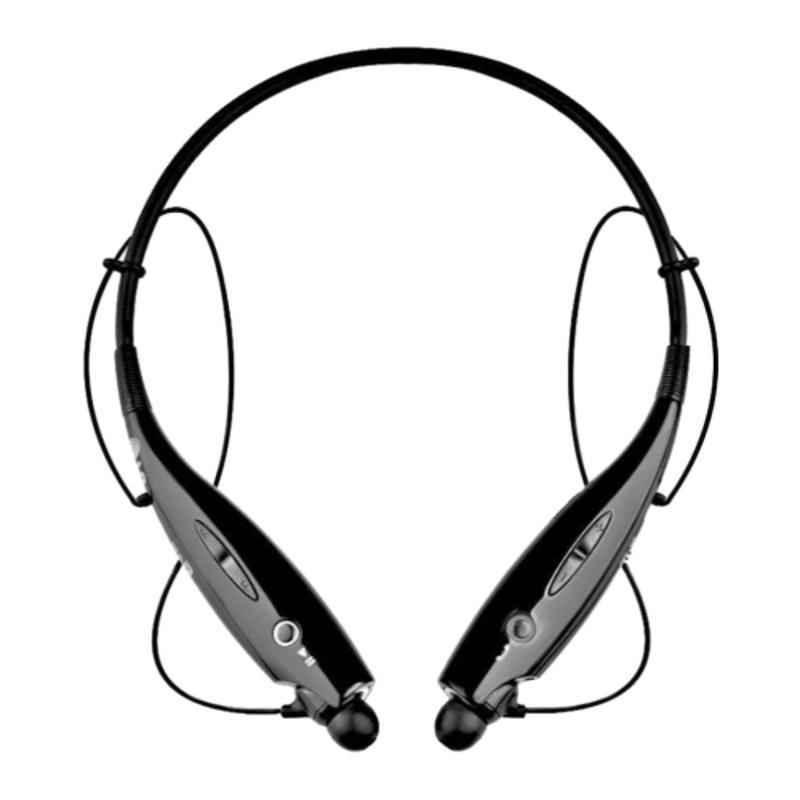 Immutable HBS-730 Black Bluetooth Neckband In-Ear Headphone with Mic, IMT-54131